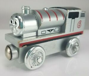 2003 Thomas & Friends Wooden Railway 60 Year Silver Percy #6 Train Engine