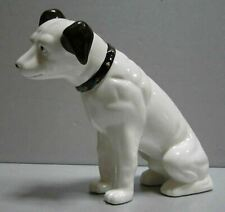 """Nipper Victor Edison dog ceramic 6"""" tall coin bank NOS old stock phonograph"""