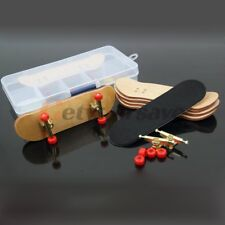 Red Complete Wooden Fingerboard Finger Skate Board Grit Box Maple Wood Tools box