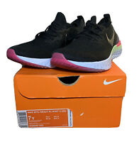 Nike Epic React Flyknit 2 'Pixel' Shoes GS Sz 7Y Womens 8.5 AQ3243-003 MSRP $125