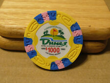 Dunes Poker Chip $1,000 Commemorative 9 gram Clay Composite NEW - FREE SHIPPING