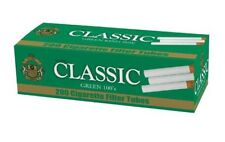 Classic Menthol 100MM Green - 10 Boxes - 200 Tubes Box Tobacco Cigarette 100s