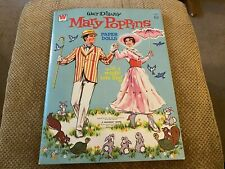 Original Vintage Uncut Walt Disney'S Mary Poppins Paper Dolls c. 1973