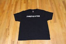 FIREFIGHTER BLOOD SWEAT AND TEARS GRAPHIC TEE BLACK SIZE XL NEW