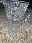 Elegant+Clear+Etched+Glass+Pitcher+With+Handle