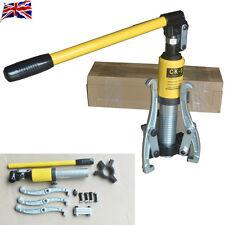Cojinete Hidráulico 5T Reino Unido Extractor de Engranajes conjuntos Separador Hub Tool Kit 3 mandíbulas