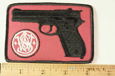 Vintage SMITH  AND WESSON Pistol Embroidered Iron-On  PATCH