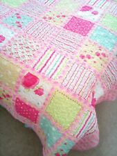 ikea pink patterend double lightweight quilted throw