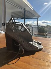 Urban Soul Bianca Heels Women's Shoes Size 38 NEW RRP $169 Grey leather