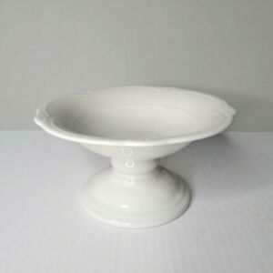 Southern Living At Home Gallery White Pedestal Footed Compote Dish Bowl