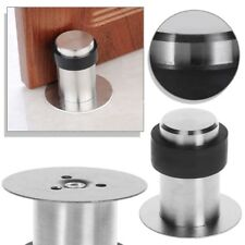 Door Stops Anti-Collision Stainless Steel Rubber Stopper Round Floor Mounted Hot