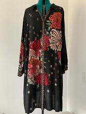 NWT Johnny Was Carro Button Down Black Floral Dress Sz 1X