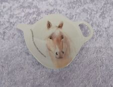 ASHDENE TEA BAG HOLDER/TEASPOON REST - MILLIE - HORSE - PALOMINO HORSE  - LOVELY