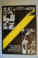 Richmond Tigers AFL VFL Vintage 1981 97th Annual Report Great Photos & Facts