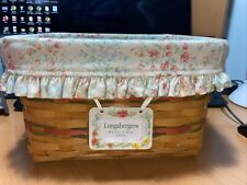 Longaberger Mothers Day 2002 Basket Mom's Memories with cloth and plastic Liner