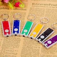 5Pcs Mini Flashlights Light LED Torch Keychains Flash Key Ring Portable-AU