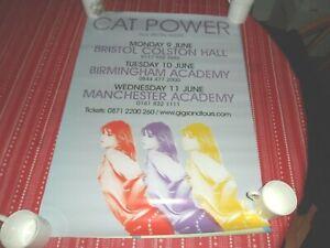 CAT POWER- 2008 UK  PROMO TOUR POSTER