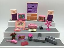 Barbie Doll Vintage Electronics Lot Stero TV Radio Fan Phone Picture Flowers Set