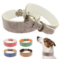 4/5cm Breit Hundehalsband für Große Hunde Gepolstert Rottweiler Pitbull 5 Farben