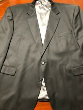 Stafford Performance Suit Jacket Coat BlackMens 100% Wool Size 56 RG