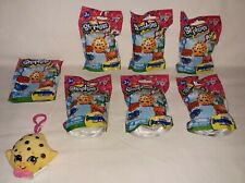 7 NEW Factory Sealed Shopkins Plush Hangers Mystery Clip On Blind Bags Series 1