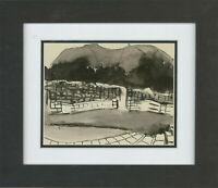 Don Hemming - Contemporary Pen and Ink Drawing, Distant Mountains