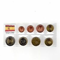 Euro SPAGNA 2002 - 8 PZ FDC in Blister -