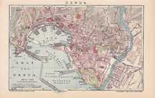 Genova GENOVA ZENA centro mappa della città di 1905 mappa
