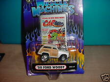MUSCLE MACHINES CO2-17  '50 FORD WOODY WHITE CARTOONS FREE USA SHIPPING