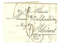 LETTRE HAUT RHIN M.P. 66 COLMAR + CAHET DATEUR DU 6 MARS 1829