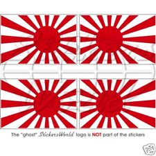 Japón Imperial Japonés Rising Sun Flag 50mm bumper-helmet Stickers Calcomanías X4