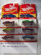 2004 Hot Wheel Classics Series 1 14/25 1967 Chevy Camero 6 Car Set in 6 Colors