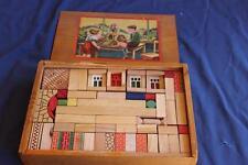 Antique Vintage Wood Architectural Building Blocks