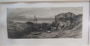 AT MARBLEHEAD NECK ORIGINAL ETCHING BY. JAS. D. SMILLIE 1883 MATTED