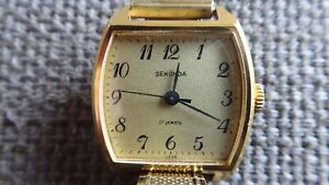 Sekonda USSR Women's Gold Plated Watch Lovely Condition 6 Month Warranty