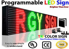 "6"" x 76"" Outdoor Led Business Digital Signs Programmable Scrolling TEXT Graphic"