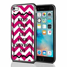 Pink Keep Calm and Get Your Chevron For Iphone 7 & Iphone 8 Case Cover