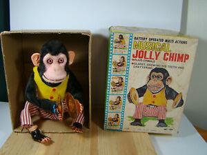 Vintage Daishin Musical Jolly Chimp Toy Story Monkey w/Box Works