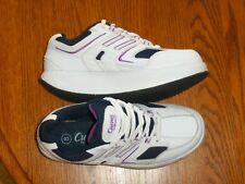 Avon Curves Leg Toning Shoes Exercise Walking Jogging Womens 8 White & Purple