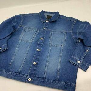 Men's Sean John Med Blue Sandblast Denim Jacket