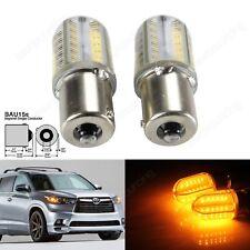 2 Ampoule BAU15s PY21W RY10W COB LED Orange Culot Clignotants Feu de Recul Lampe