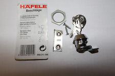 Häfele Hebelverschluss mit Zylinder Hebelschloss für 0,8-3,5 mm Hebel gekröpft