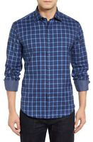 Bugatchi Shaped Fit Plaid Sport Shirt ,NWT, S