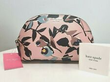 NEW Kate Spade Dome Cosmetic Case Blush Pink Multi Make-up Bag NWT $89.