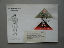 NIGERIA, cover FDC 1963, triangle stamps Jamboree scouting