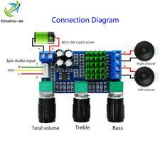 DC 12V 24V 80Wx2 TPA3116D2 Dual Channel Digital Treble Bass Pre Amplifier Board