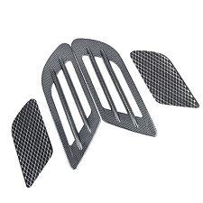 2x Carbon Fiber Style Car Decorative fender Air Vent  Hood Scoop Sticker Cover
