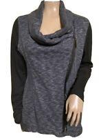 Calvin Klein Performance Quick Dry Women's Gray & Black Side Zipper Jacket SZ M