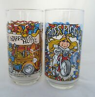 Set of 2 VTG 1981 McDonald's The Great Muppet Caper Drinking Glass Cup Tumbler