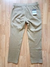 NEW Haggar H26 No Iron Straight Fit Flat Front STRETCH Khaki Pants 36X32 Brown